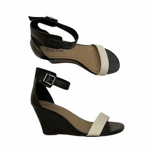 Kenneth Cole Reaction wedge ankle strap sandals 9